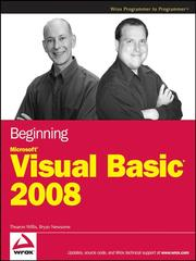 Beginning Microsoft Visual basic 2008 by Thearon Willis