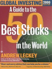 Cover of: Global Investing 2000 Edition | Andrew Leckey