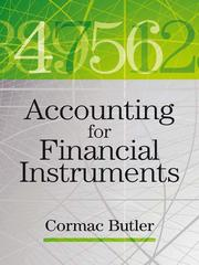 Accounting for financial instruments by Cormac Butler