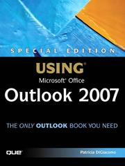 Cover of: Special Edition Using Microsoft® Office Outlook® 2007 | Patricia DiGiacomo Eddy