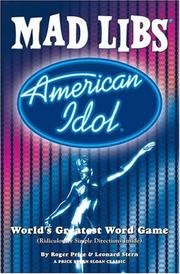 Cover of: American Idol Mad Libs