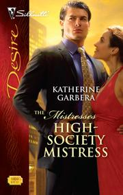Cover of: High-Society Mistress | Katherine Garbera