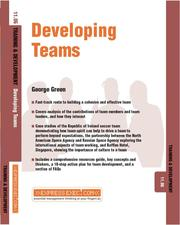Cover of: Developing Teams | G. Green