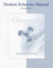 Cover of: Student Solution Manual to Accompany Chemistry