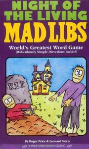 Cover of: Night of the living mad libs