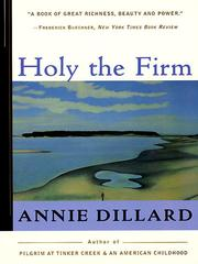 Cover of: Holy the Firm | Annie Dillard