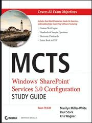 Cover of: MCTS Windows SharePoint Services 3.0 Configuration Study Guide | Marilyn Miller-White