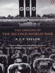 Cover of: The Origins of the Second World War | A. J. P. Taylor