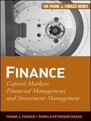 Cover of: Finance | Frank J. Fabozzi