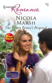 The desert prince's proposal by Nicola Marsh