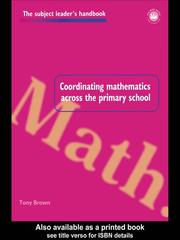 Cover of: Coordinating Mathematics Across the Primary School | Brown, Tony