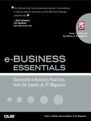 Cover of: e-Business Essentials | Frank J. Derfler