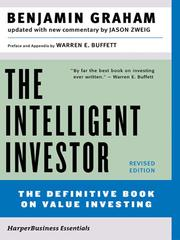 Cover of: The intelligent investor: a book of practical counsel