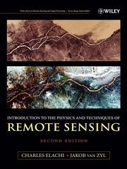 Cover of: Introduction To The Physics and Techniques of Remote Sensing | Charles Elachi
