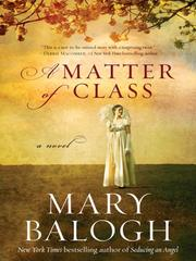 Cover of: A Matter of Class | Mary Balogh