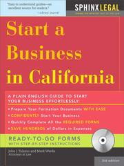 Cover of: Start a Business in California, 3E | John Talamo