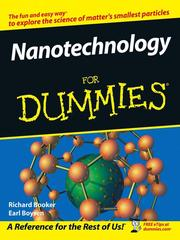 Cover of: Nanotechnology For Dummies | Richard Booker