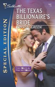 Cover of: The Texas Billionaire's Bride | Crystal Green