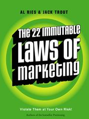 Cover of: The 22 Immutable Laws of Marketing by Jack Trout