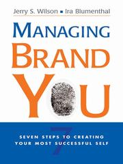 Cover of: Managing Brand You | Jerry S. Wilson