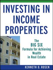 Investing in income properties by Kenneth D. Rosen