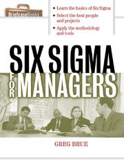 Cover of: Six Sigma for Managers | Greg Brue
