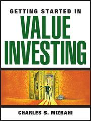 Cover of: Getting Started in Value Investing | Charles Mizrahi