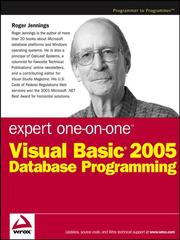 Expert one-on-one Visual BASIC 2005 database programming by Roger Jennings