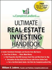 Cover of: The complete Landlord.com ultimate real estate investing handbook | William A. Lederer