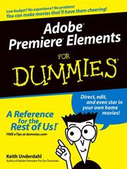 Cover of: Adobe Premiere Elements For Dummies | Keith Underdahl