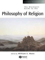 Cover of: The Blackwell Guide to the Philosophy of Religion | William Edward Mann