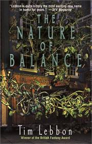 Cover of: The nature of balance | Lebbon, Tim