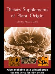 Cover of: Dietary Supplements of Plant Origin | Massimo Maffei