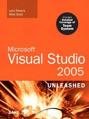 Cover of: Microsoft Visual Studio 2005 Unleashed / 1 | Lars Powers