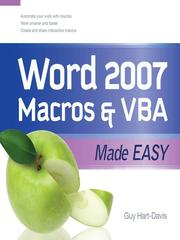 Cover of: Word 2007 macros & VBA made easy