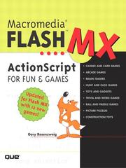 Cover of: Macromedia Flash MX ActionScript for Fun and Games | Gary Rosenzweig