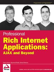Cover of: Professional Rich Internet applications | Dana Moore