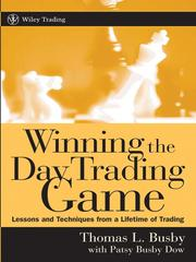 Cover of: Winning the Day Trading Game | Thomas L. Busby