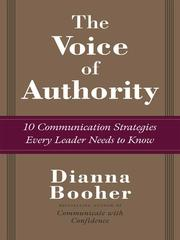 Cover of: The Voice of Authority | Dianna Daniels Booher