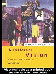 Cover of: A Different Vision | Thomas Boston