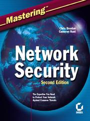 Cover of: MasteringNetwork Security | Chris Brenton