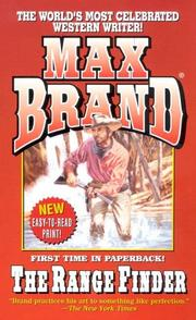 Cover of: The Range Finder | Max Brand [pseudonym]