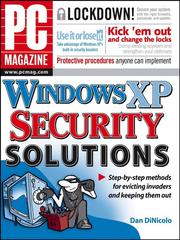 Cover of: PC Magazine Windows XP Security Solutions | Dan DiNicolo