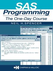 Cover of: SAS programming by Neil Spencer