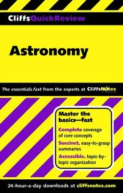 Cover of: CliffsQuickReview Astronomy | Charles J. Peterson