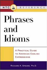Cover of: Phrases and idioms | Richard A. Spears