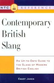 Cover of: Contemporary British slang