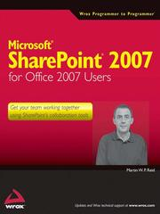 Cover of: Microsoft SharePoint 2007 for Office 2007 users by Martin W. P. Reid