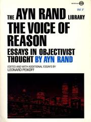 Cover of: The Voice of Reason | Ayn Rand