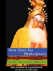 Cover of: New Sites For Shakespeare | John Russell Brown